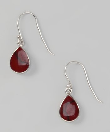 Red Jasper Teardrop Earrings
