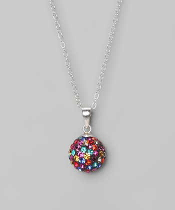 Multi Fireball 10mm Pendant Necklace