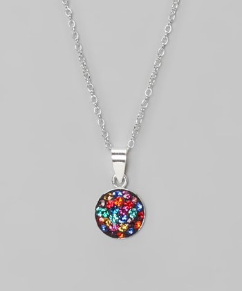 Multi Fireball 8mm Pendant Necklace