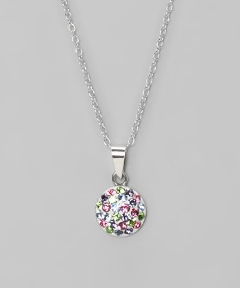 Light Multi Fireball 8mm Pendant Necklace