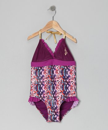 Purple Tribal One-Piece