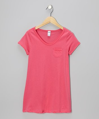 Watermelon Raw-Edge Pocket Tee - Toddler & Girls