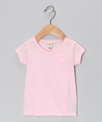 Baby Pink Scoop Neck Tee - Infant