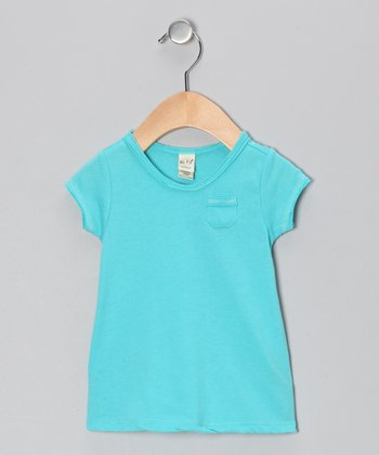 Caribbean Blue Scoop Neck Tee - Toddler & Girls