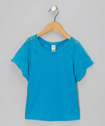 Island Blue Raglan Dolman Tee - Toddler & Girls