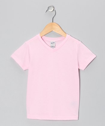 Baby Pink V-Neck Tee - Toddler & Girls