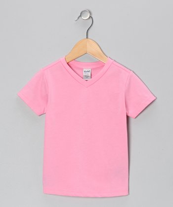 Bubblegum Pink V-Neck Tee - Toddler & Girls