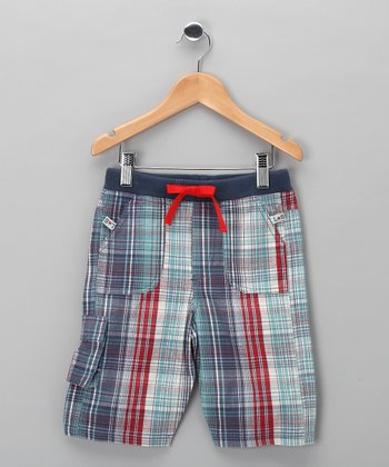 Blue Plaid Coast Shorts - Toddler & Boys