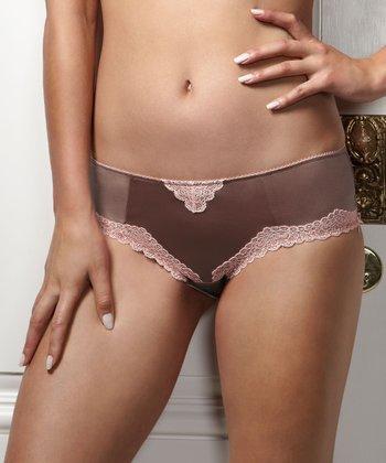 Valerie Mocha Lace Bikini Briefs - Women
