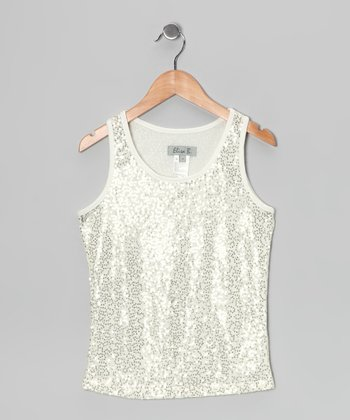 Natural Sequin Tank