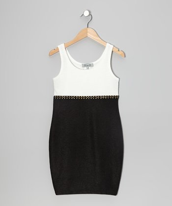 Black & White Stud Dress
