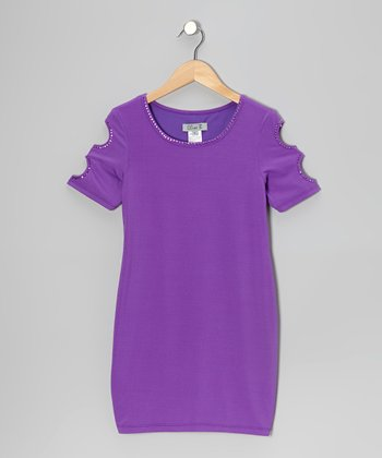 Purple Cutout Dress