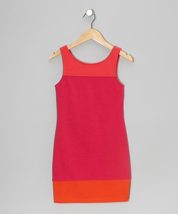 Pink & Orange Color Block Dress