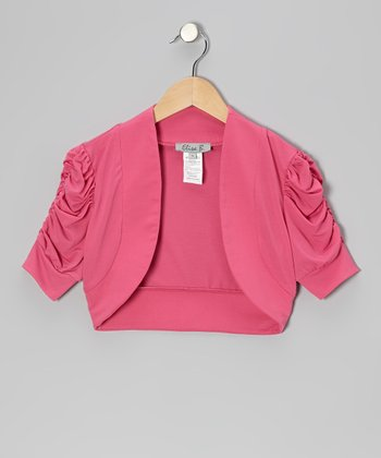 Pink Ruched Shrug