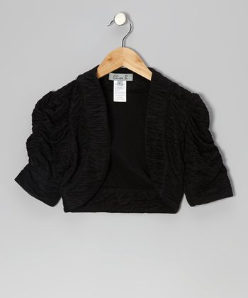 Black Crinkle Shrug