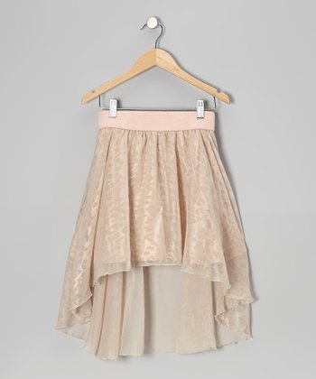 Light Pink Chiffon Hi-Low Skirt