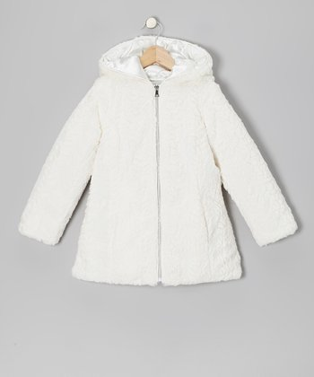 Vanilla Faux Fur Swing Coat - Girls