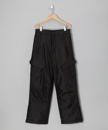 Black Snow Pants - Boys