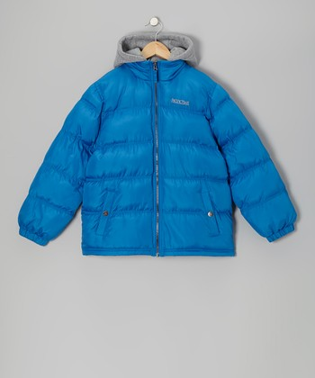 Blue Puffer Coat - Infant