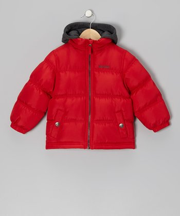 Red Puffer Coat - Infant