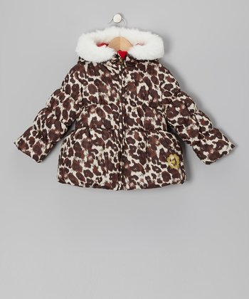 Leopard Puffer Coat - Infant & Toddler