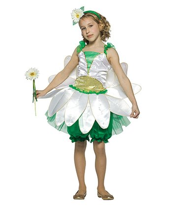 Green & White Daisy Dress-Up Set - Toddler