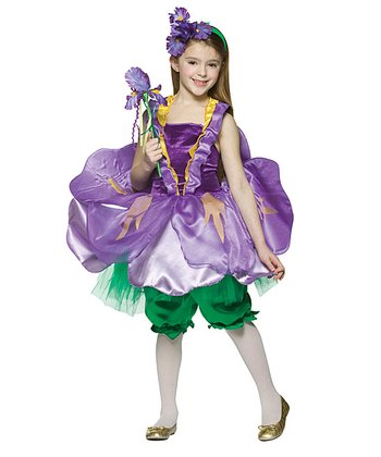 Purple & Green Iris Dress-Up Set - Toddler