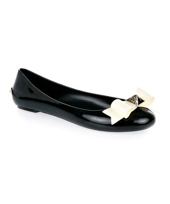 Black & Cream Joleey Flat