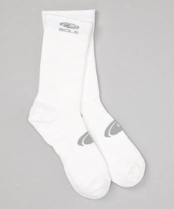 White Dual-Layer Anti-Blister Crew Sock
