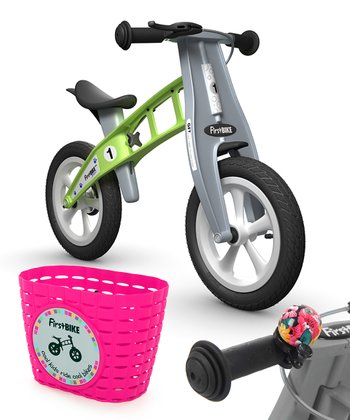 Green Flower STREET FirstBIKE Set