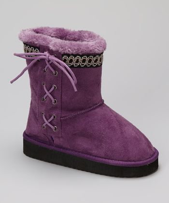 Purple Cailin Boot