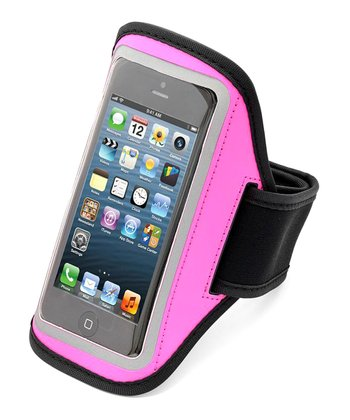 Pink Reflective Sport Armband Case for iPhones 4/4s/5
