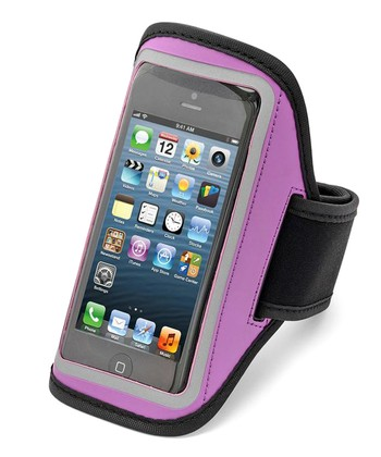 Purple Reflective Sport Armband Case for iPhones 4/4s/5