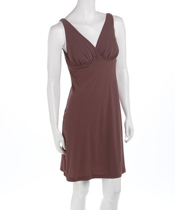 Plum Full Fit Anytime Nursing Nightgown