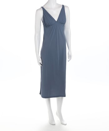 Slate V-Neck Nursing Nightgown