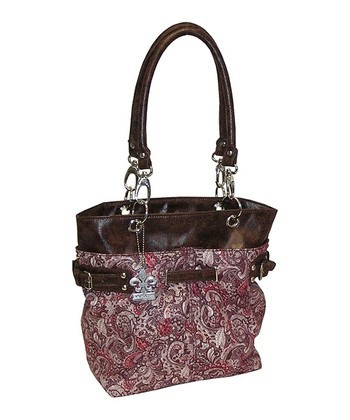 Red Paisley Midi Ultimate Diaper Bag Set
