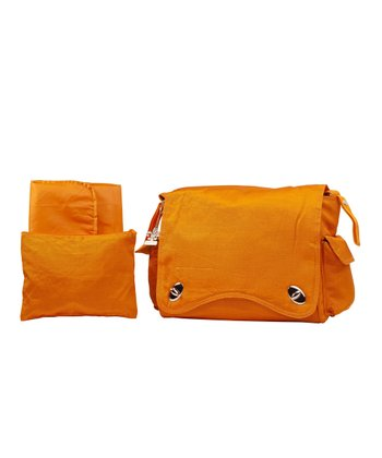Pumpkin Messenger Diaper Bag Set