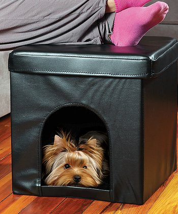 Black Collapsible Pet Ottoman