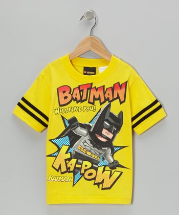 Yellow LEGO Batman 'Kapow!' Tee - Kids