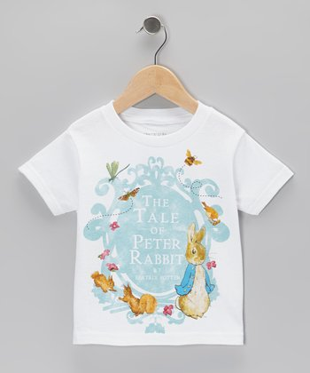 White Peter Crest Tee - Toddler