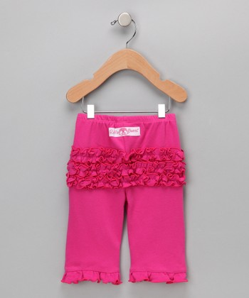 Fuchsia Ruffle Pants - Infant & Toddler