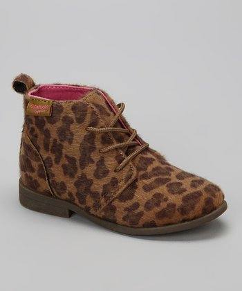 Brown Leopard Chica Ankle Boot