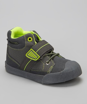 Gray & Neon Green Jingo Hi-Top Sneaker