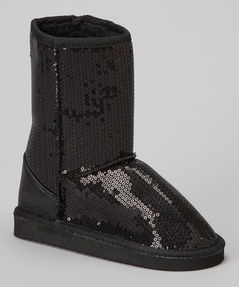 Black Sequin Ugena Boot