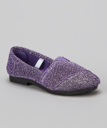 Purple Glitter Timmy Slip-on Shoe