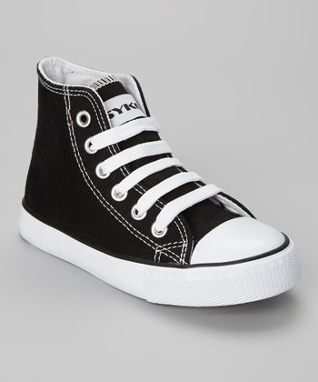 Black & White Hi-Top Sneaker