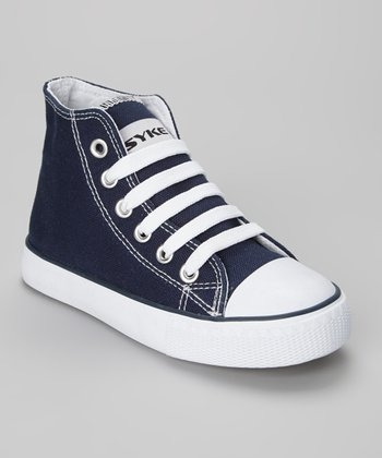 Navy & White Hi-Top Sneaker