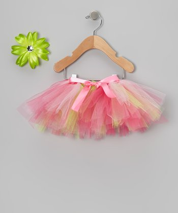 Strawberry Shortcake Tutu & Clip - Toddler & Girls