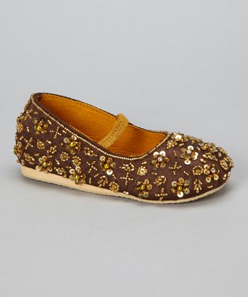 Golden Brown Sparkle Flat