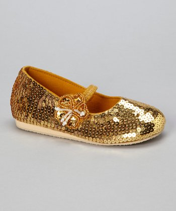 Gold Little Flower Flat